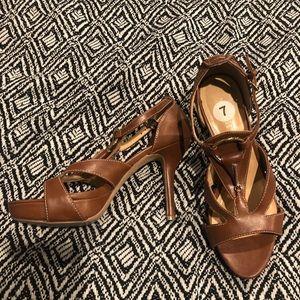 Nine West Brown Platform Sandals